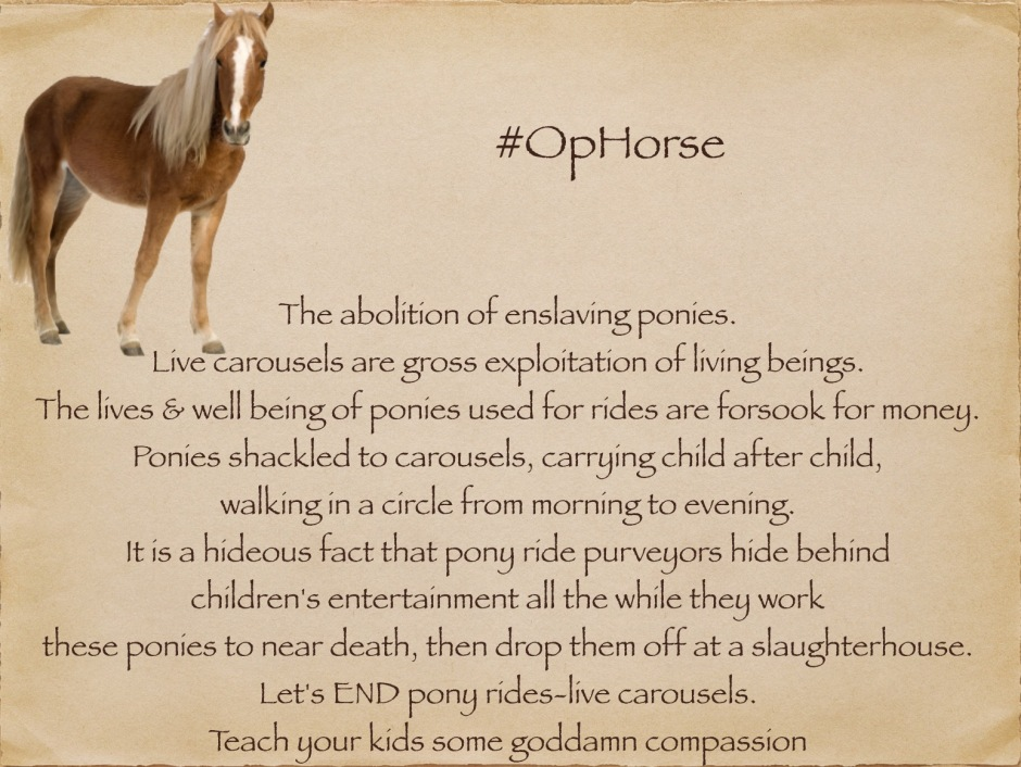 Be a voice for ponies. Help END living carousels